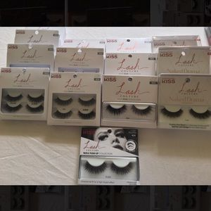 Kiss Strip Lashes ( 13 Total different styles)